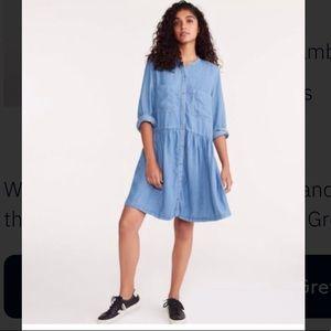 NWT Lou & Grey Chambray button down dress